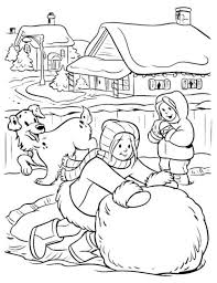 free snow coloring pages big snowball winter coloring pages