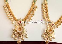 gold sets design 39 grams pearls hanging gold set jewellery designs