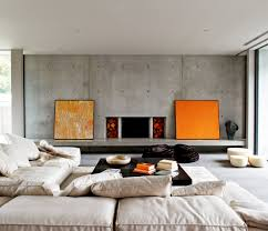 Industrial Home Interior Design by Modern Schemes Industrial Living Room With Concrete Wall Design