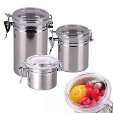 coffee kitchen canisters unbranded stainless steel kitchen canisters jars ebay