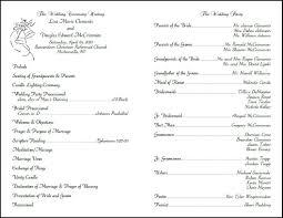 wedding bulletin template wedding program template tryprodermagenix org