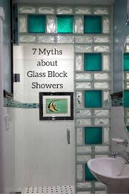 glass block bathroom ideas 7 myths about glass block showers glass blocks glass and house
