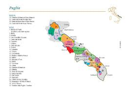 Map Of Italy Regions by Map Of Puglia Region Of Italy You Can See A Map Of Many Places