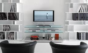 Console Bookshelves by Modern Black And White Living Room Interior Set With Glass Console
