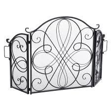 best selling home decor oxford 3 panel iron fireplace screen