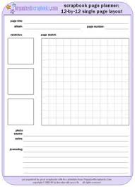 scrapbook inserts scrapbook page planner worksheet printable free worksheet