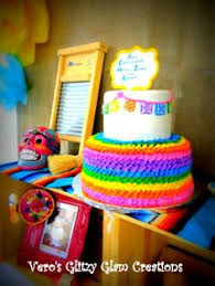 multi coloured mexican fiesta birthday cake love those coloured