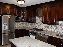 Granite Countertops With Cherry Cabinets Dark Cherry Kitchen Cabinets