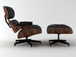 Eames Chair Eames Lounge Chair And Ottoman 3d Modell Vitra