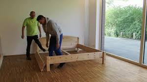 Zirbenbett Das Gesunde Zirbenholzbett Von Lamodula Aufbau Metallfreies Zirbenbett Von Pro5 Lustenau Youtube