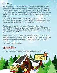 santa letters from north pole letter template