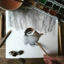 watercolor tutorial chickadee акварель drawıng pinterest watercolor bird and watercolour
