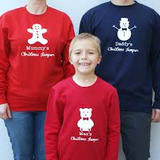personalised family jumper set by sparks clothing