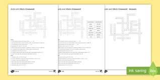ks3 acids and alkalis homework activity sheet worksheet