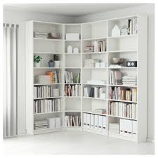 White Corner Bookcase Ikea Bookshelf Interesting Design Corner Bookshelf Astounding Corner