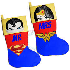 christmas hers superman wonderwoman his and hers mr and mrs christmas