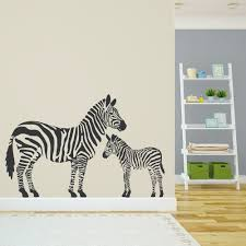 zebras wall art decal zebra family wall art decal
