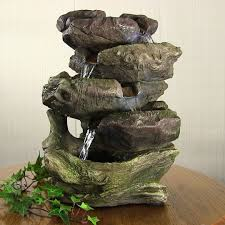 garden treasures resin rock waterfall fountain best waterfall 2017