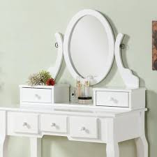 Oak Makeup Vanity Table Wood Makeup Vanity Table And Stool Set White Furnituremaxx