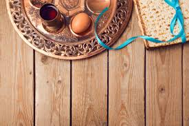 seder matzah passover concept with matzah seder plate egg and