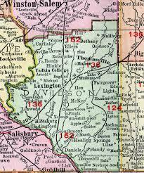 davidson county carolina 1911 map rand mcnally