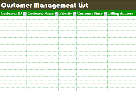 Customer Management Excel Template Customer Management List Template Dotxes