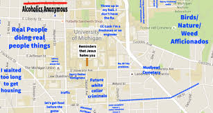 Lsu Map A Judgmental Map Of Ann Arbor Michiganthe Black Sheep
