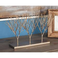 american home 10 in tree decorative sculptures in gold 74830