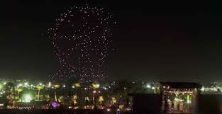 disney drone light show drone shows vs fireworks quadcopters light up the skies