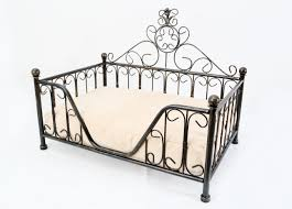 black metal mini bed frame w cushion for dog cat puppies kittens