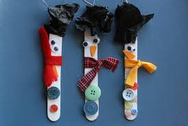 craft stick snowman ornaments happy hooligans