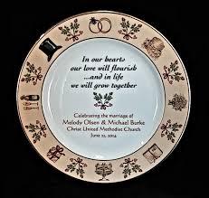 personalized wedding plate wedding plate