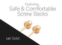 gold earring backs butterfly drop earrings back 14k gold