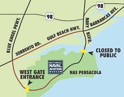 Pensacola Map Polar Express Pajama Party National Naval Aviation Museum