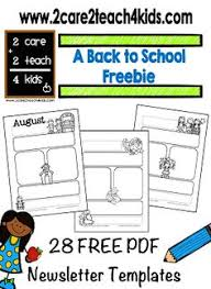 editable monthly newsletter free third grade think tank
