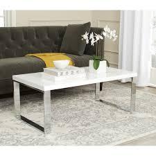 safavieh rockford white chrome coffee table free shipping today