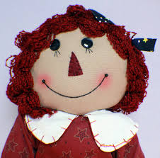 raggedy ann i love americana plush cloth doll xl lg red white