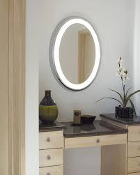 Backlit Mirrors For Bathrooms Bathrooms Design Bathroom Mirror Clock Round Bathroom Mirror
