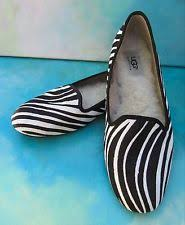ugg womens alloway shoes zebra flats oxfords in brand ugg australia material leather color