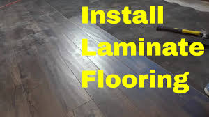 Install Laminate Flooring In Basement How To Install Laminate Flooring Easy Tutorial Youtube