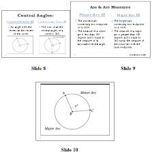 angles and arcs of circles sas