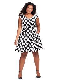 julia jordan dress in black u0026 white polka dot gwynnie bee