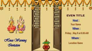 How To Design A Invitation Card House Warming Invitation In Tamil How To Design A House Warming