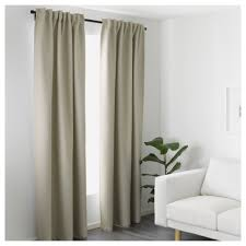 Ikea Beige Curtains Vilborg Curtains 1 Pair Ikea