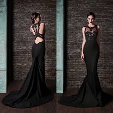 black see through tulle with lace green chiffon long evening