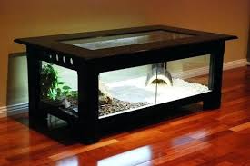 table terrarium coffee table reptile enclosure coffee table round