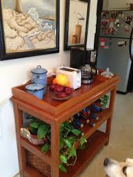 Kitchen Table Bakers Repurpose Baby Changing Table To Coffee Bar For Kitchen For The