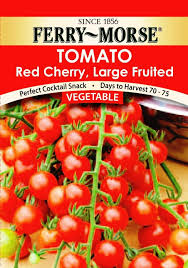 amazon com ferry morse tomato red cherry large fruited seeds