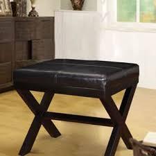 black traditional cross leg x style bench ottoman free shipping