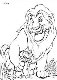 lion king mufasa simba coloring pages hellokids